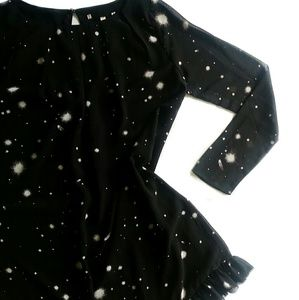 [ VS ] Galaxy Ruffle Flounce Babydoll Midi Dress